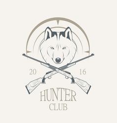 hunting club logo vector image vector image