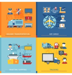 Logistic Flat Concept vector image vector image