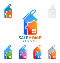 sale home logo real estate logo home house vector image