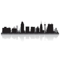 San Antonio USA city skyline silhouette vector image