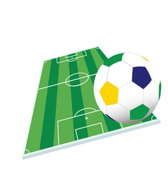 soccer ball and playground color vector image vector image