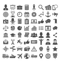 Universal icon set 64 icons vector image vector image