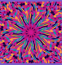 Abstract colorful hypnotic radial tiled pattern vector