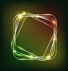 Abstract colorful neon background with rounded vector image