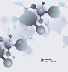 Abstract molecules background with cells vector