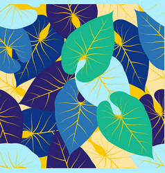 Abstract pattern with palm leaves vector