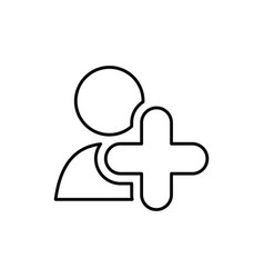 add people symbol vector image
