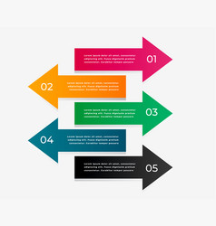 arrow infographic with five steps vector image