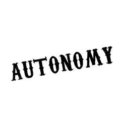 Autonomy rubber stamp vector