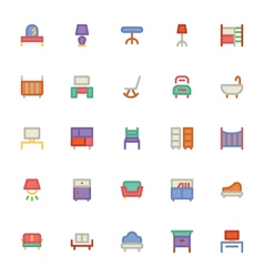 Building and Furniture Icons 8 vector image