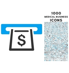 Cashout Slot Icon with 1000 Medical Business Icons vector