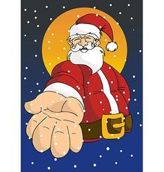 Christmas series Happy Santa giving hand vector