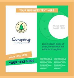 christmas tree company brochure template busienss vector image