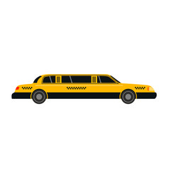 City road yellow taxi limousine transport vector