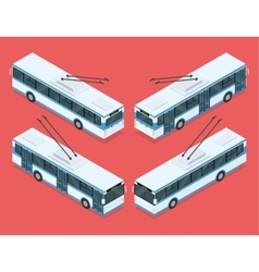 City trolleybus transport vector image