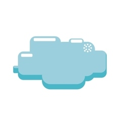 cloud pixel video game play icon graphic vector image