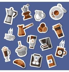 Coffee stickers set vector image