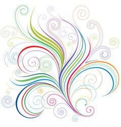 colorful curve vector image