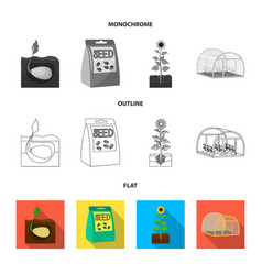 Company ecology and other web icon in flat vector