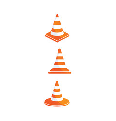 construction cone icon design vector image