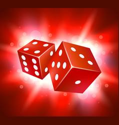 dice design two dice casino gambling vector image