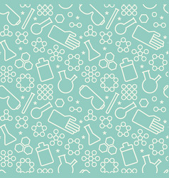 Doodle chemistry pattern vector