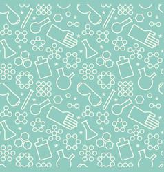 doodle chemistry pattern vector image