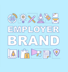 Employer brand word concepts banner vector