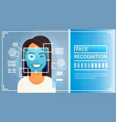Face recognition system eye retina scanning of vector