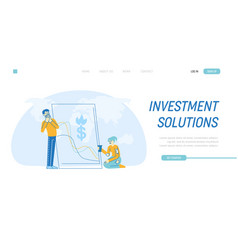 Financial crisis landing page template vector