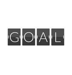 Flat goal football soccer concept letter vector image