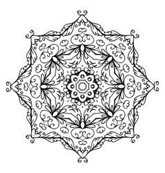 Floral ornament arabesque hand drawn sketch for vector