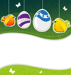 Green Easter background vector