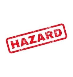 Hazard Text Rubber Stamp vector