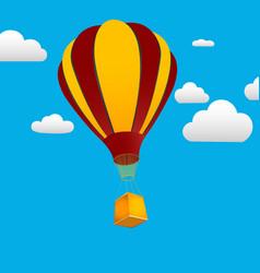 Hot air ballon icon in sky vector