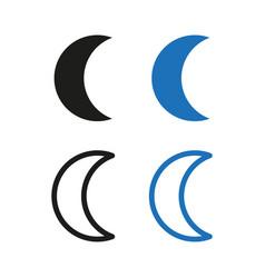 icon moon simple vector image