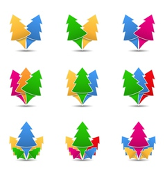 Icons of trees vector image