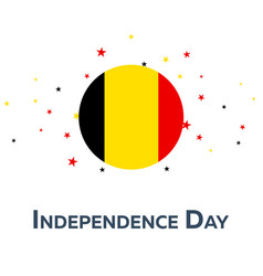 independence day of belgium patriotic banner vector image
