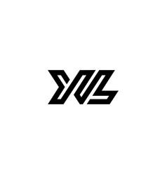Logo letters xl line vector