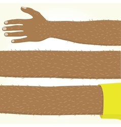 Long afro american hand isolated vector image