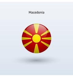 Macedonia round flag vector