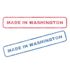 made in washington textile stamps vector image