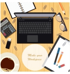 Make your workspace banner4 vector