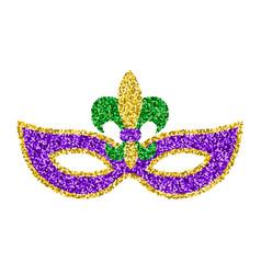 Mardi gras glitter mask vector