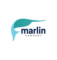 Marlin fish logo icon vector