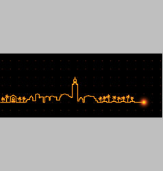 marrakesh light streak skyline vector image