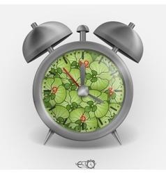 Metal Classic Style Alarm Clock vector image