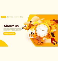 modern banner template with tiny people and work vector image