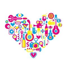 movie heart vector image vector image