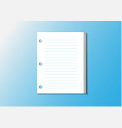 note paper memo with line post it vector image